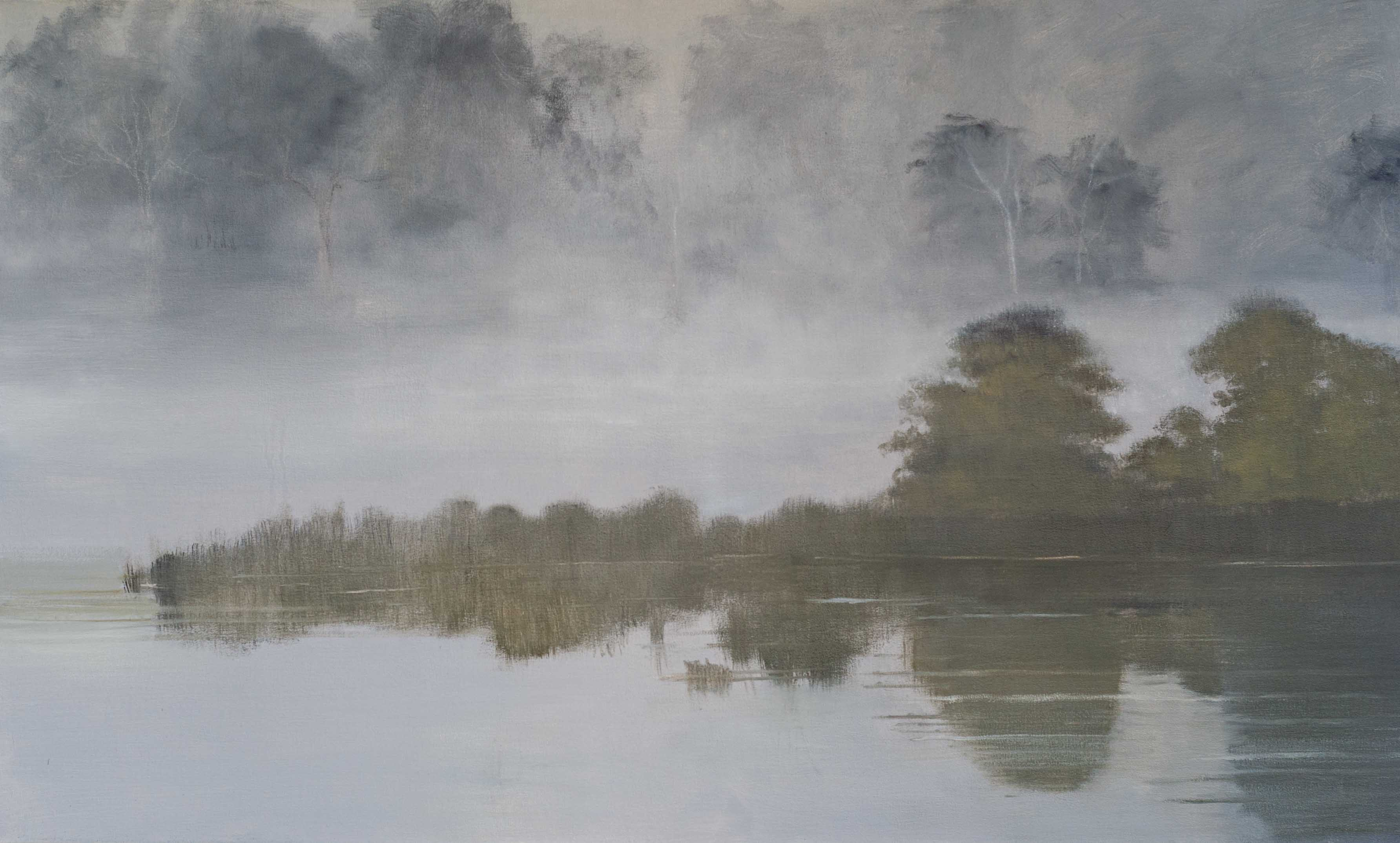Foggy Morning on the River - 40x60 - 2016