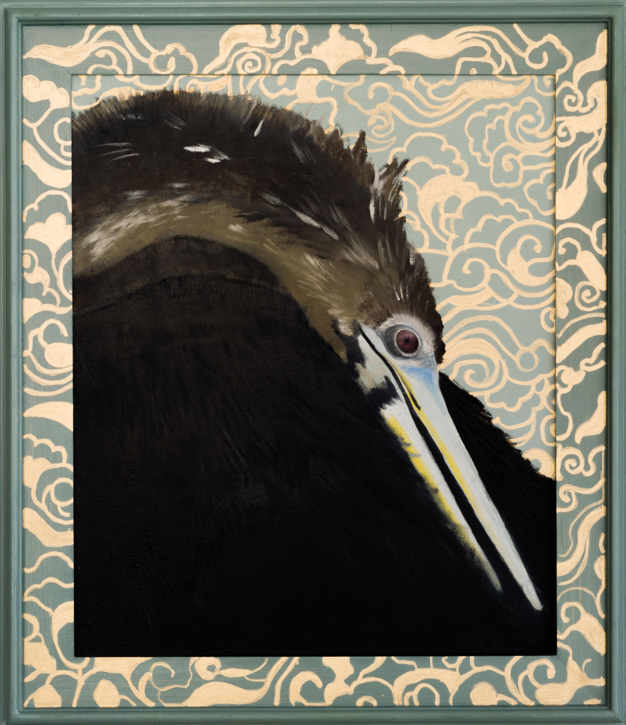 Anhinga 30x26 (framed) Oil on canvas 2015 web