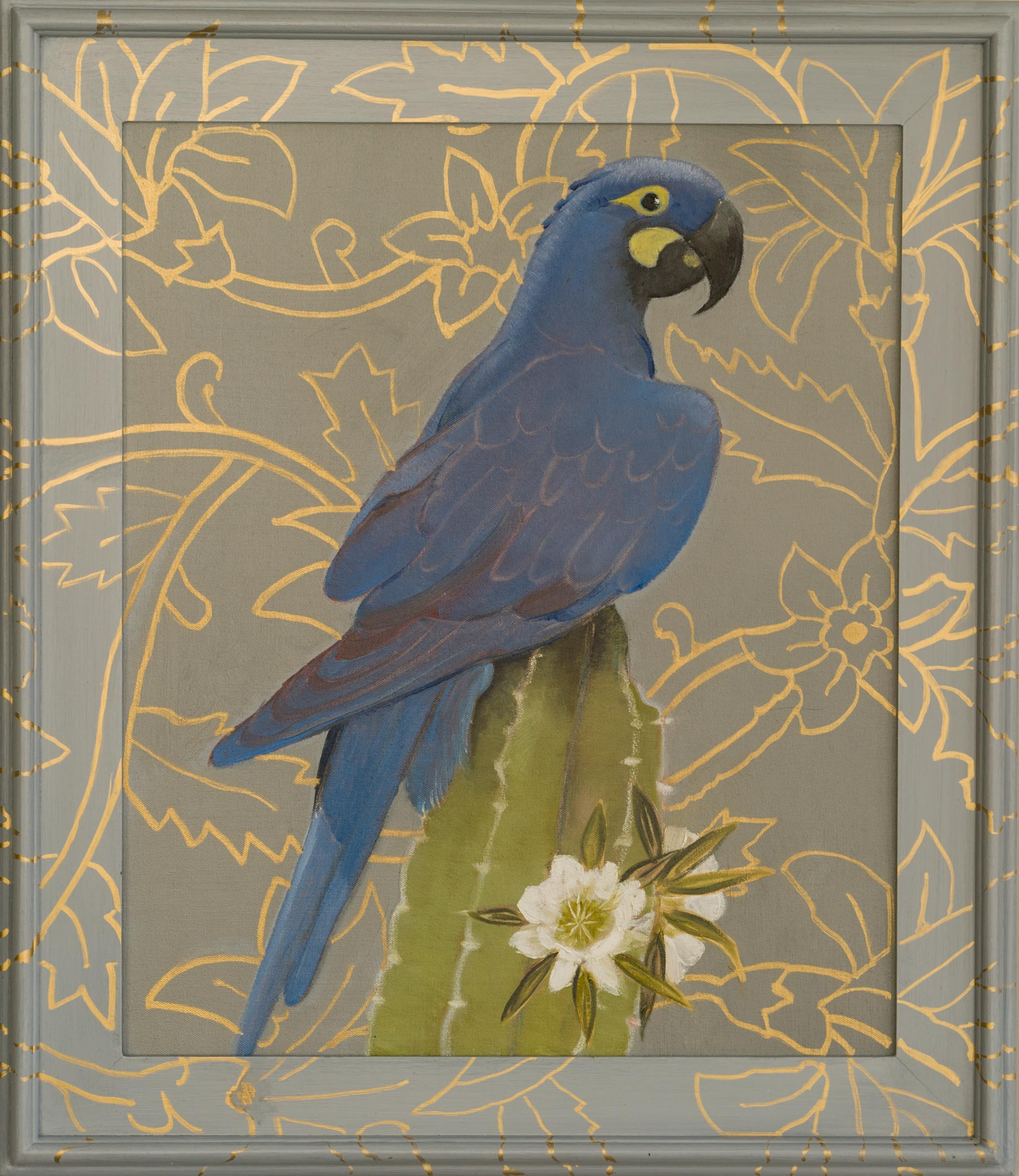 Hyacinth Parrot - 30x26 (framed) - Oil on canvas - 2015 web_