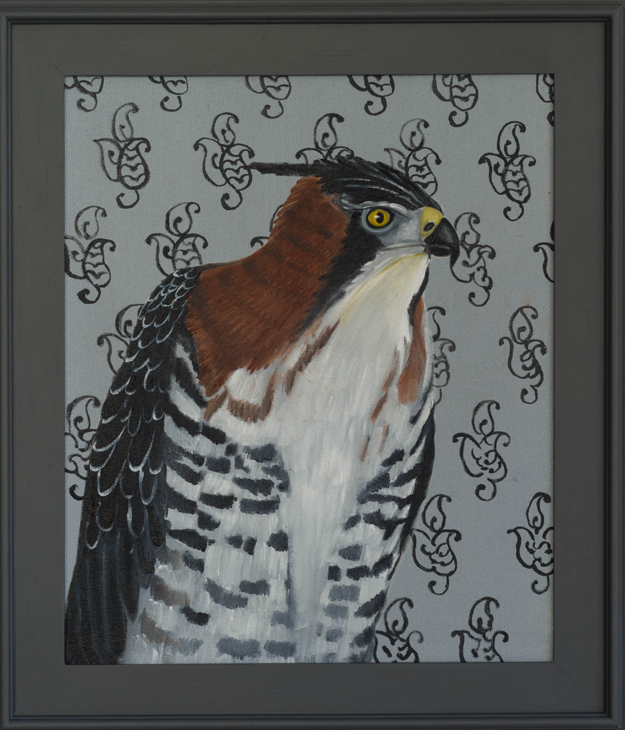 Ornamental Eagle Hawk 30x26 Oil on canvas 2015 2 web