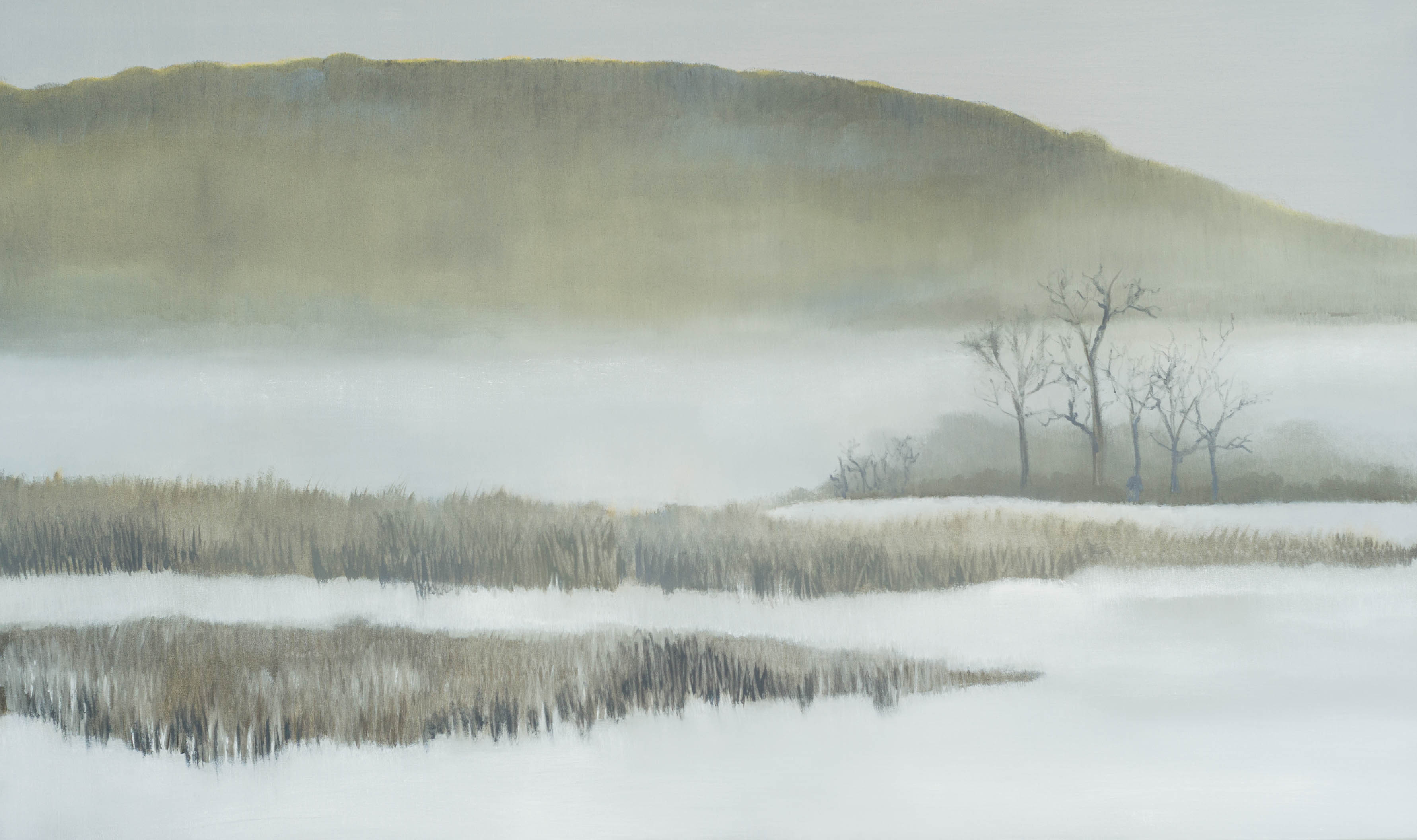 Snowy Day on the River - 36x60 - 2015
