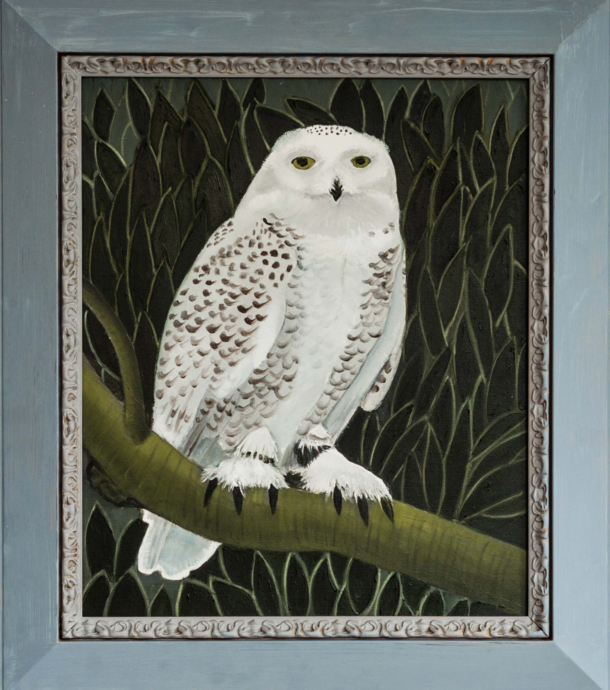 Snowy Owl - 30 3-4x26 3-4 - Oil on canvas -2015 web