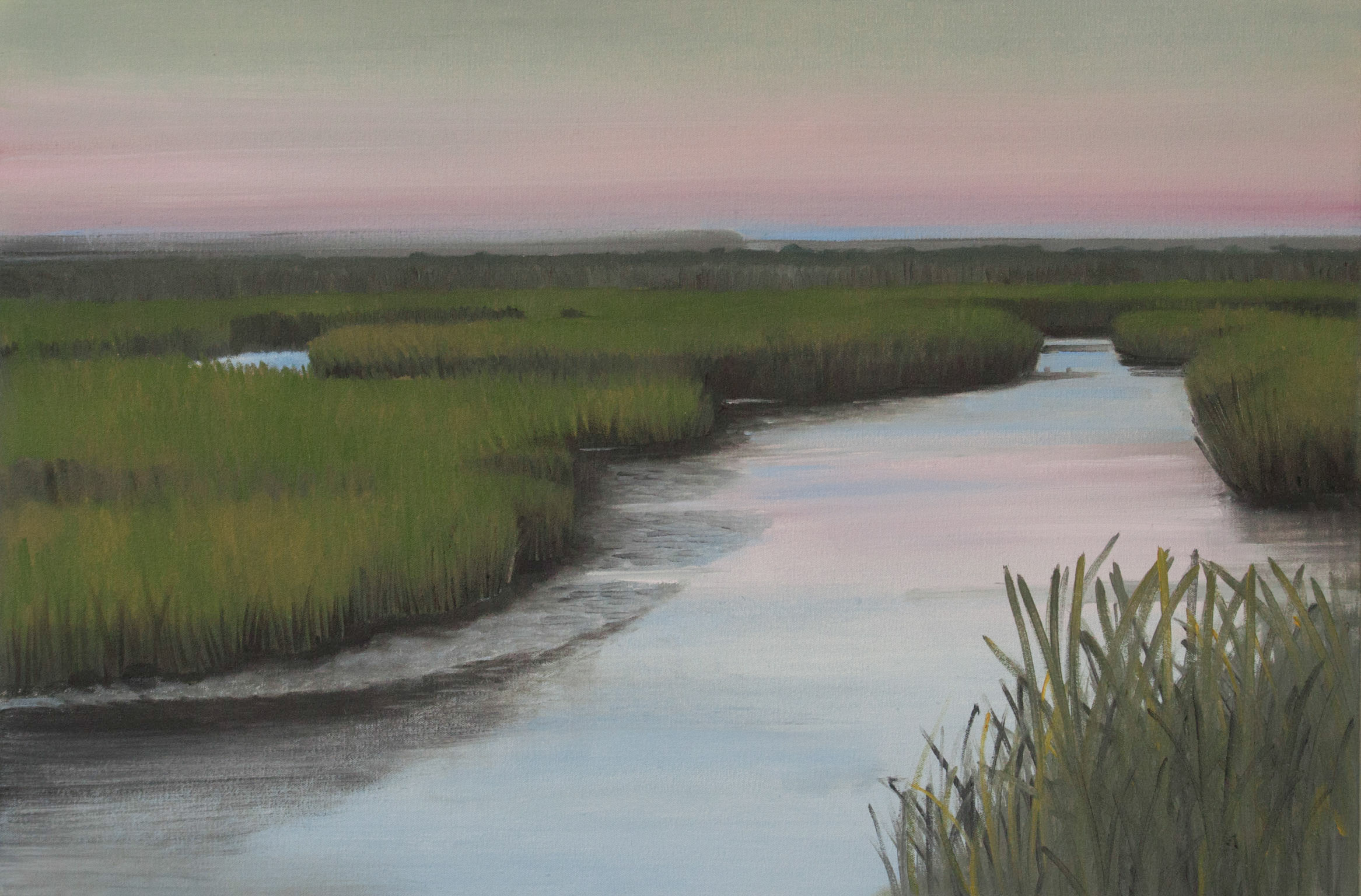 Sundown on the Marsh 24x36-2