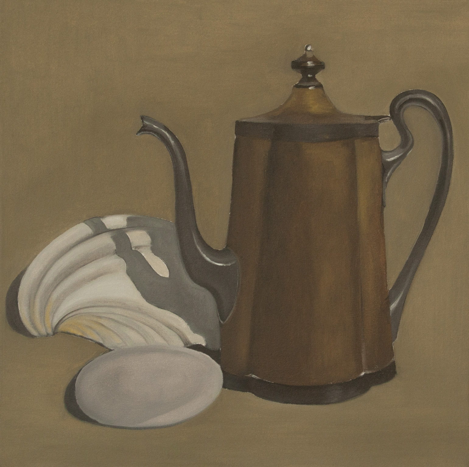 Teapot with Shells 24x24 2017 web